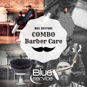 capa negra con blanco + planchita barbera (modelling comb) + navajín + cepillo de barba + quitapelo 1 peine de regalo.